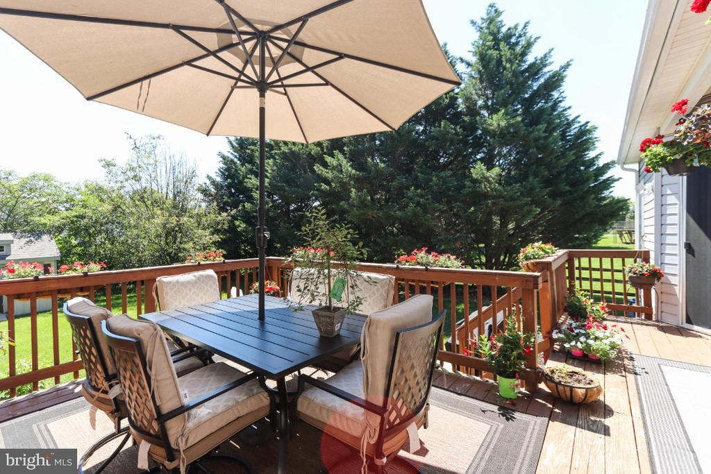 The Awesome Rear Deck! - 384 TURNBERRY DR, CHARLES TOWN