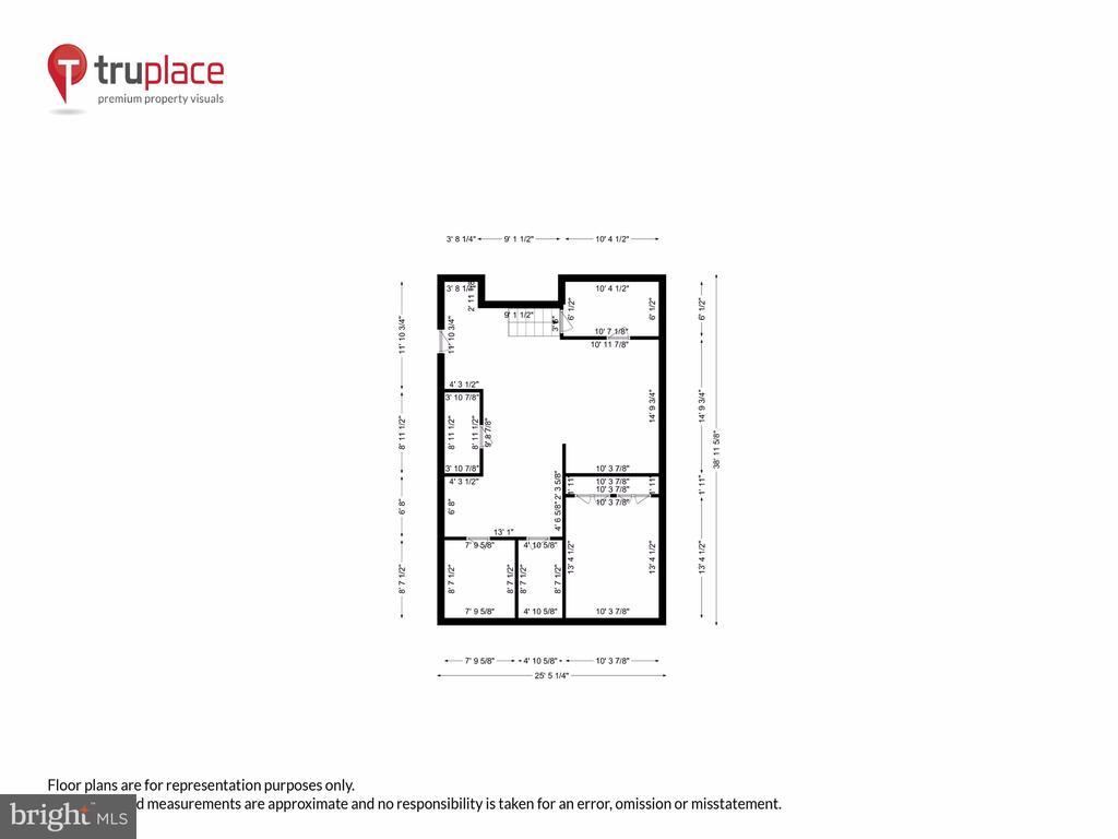 Lower level w/ measurements - 1250 D ST SE, WASHINGTON