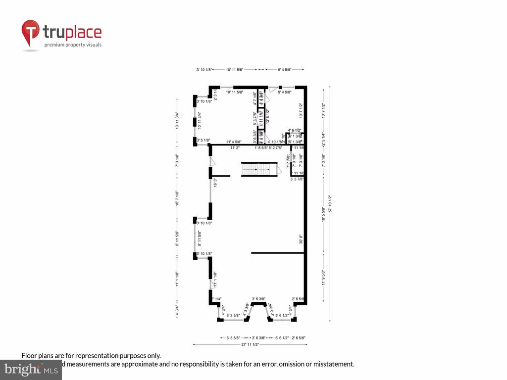Main level w/ measurements - 1250 D ST SE, WASHINGTON