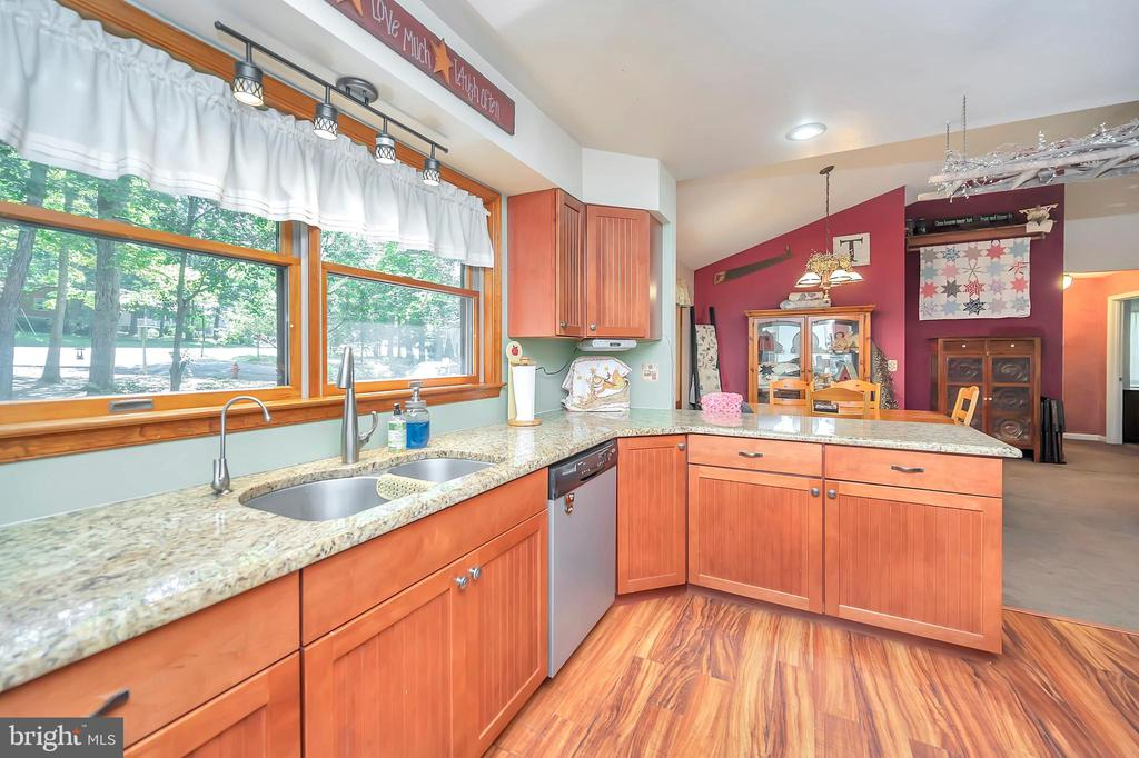 sink with a view overlooking the corner - 201 HAPPY CREEK RD, LOCUST GROVE