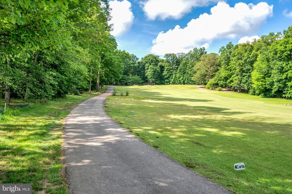 view of #1 golf cart path & hole - 141 EAGLE CT, LOCUST GROVE