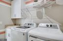 LAUNDRY WITH BUILT-IN CABINETS & SINK - 5060 DIMPLES CT, WOODBRIDGE