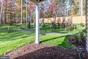 REAR VIEW FROM MAIN LEVEL REAR ENTRANCE - 5060 DIMPLES CT, WOODBRIDGE