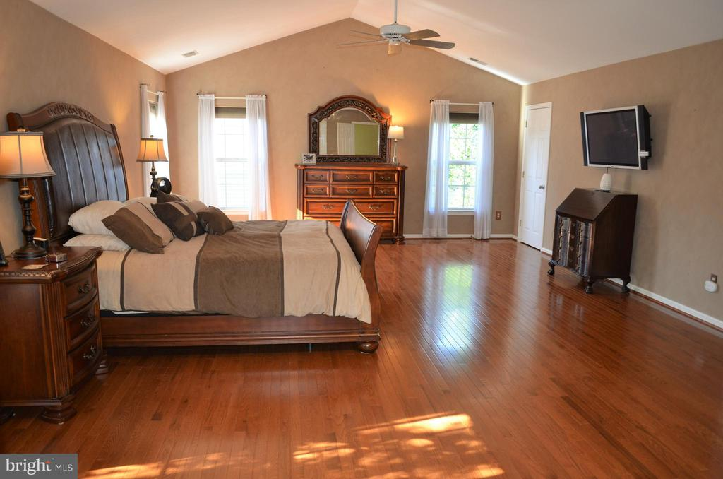 Just stunning master bedroom w/TV that conveys! - 6304 SPRING FOREST RD, FREDERICK