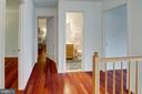 The upper hallway also has hardwood floors - 320 DESTROYER CV, STAFFORD