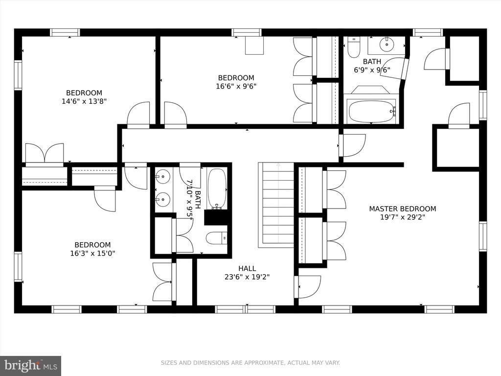 Upper Level floor plan - 10740B WOODSBORO RD, WOODSBORO