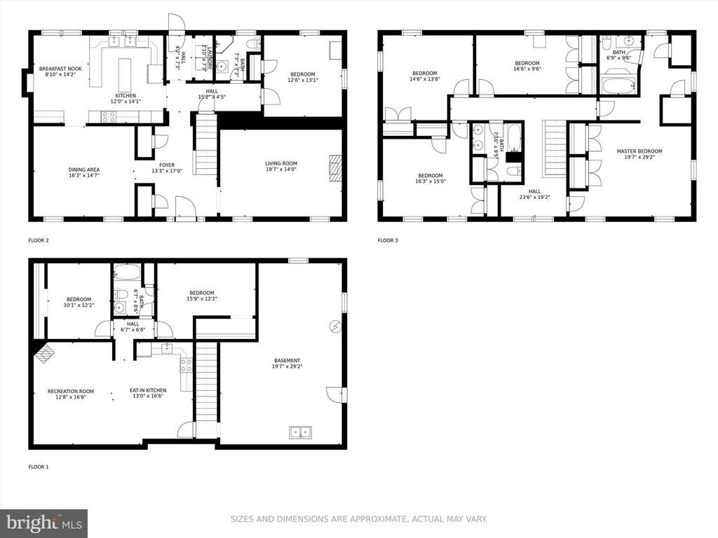 Floor plan main home. - 10740B WOODSBORO RD, WOODSBORO