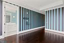 Custom designer wallpaper adorns this Penthouse - 1881 N NASH ST #2311, ARLINGTON
