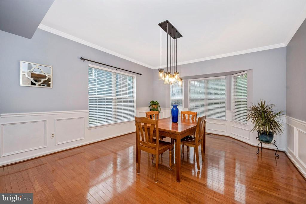 Dining room with bay window - 6304 SPRING FOREST RD, FREDERICK