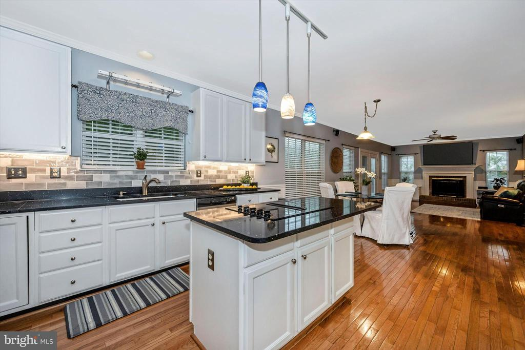Beautiful pedastal lighting above island - 6304 SPRING FOREST RD, FREDERICK