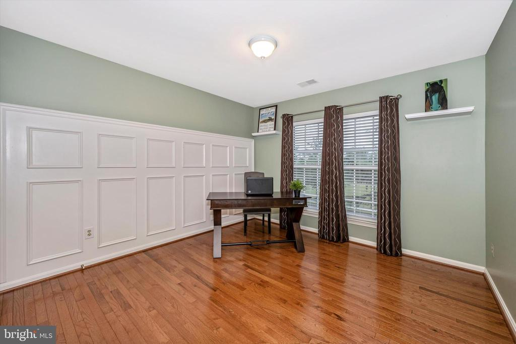 4th bedroom with detailed wainscotting - 6304 SPRING FOREST RD, FREDERICK