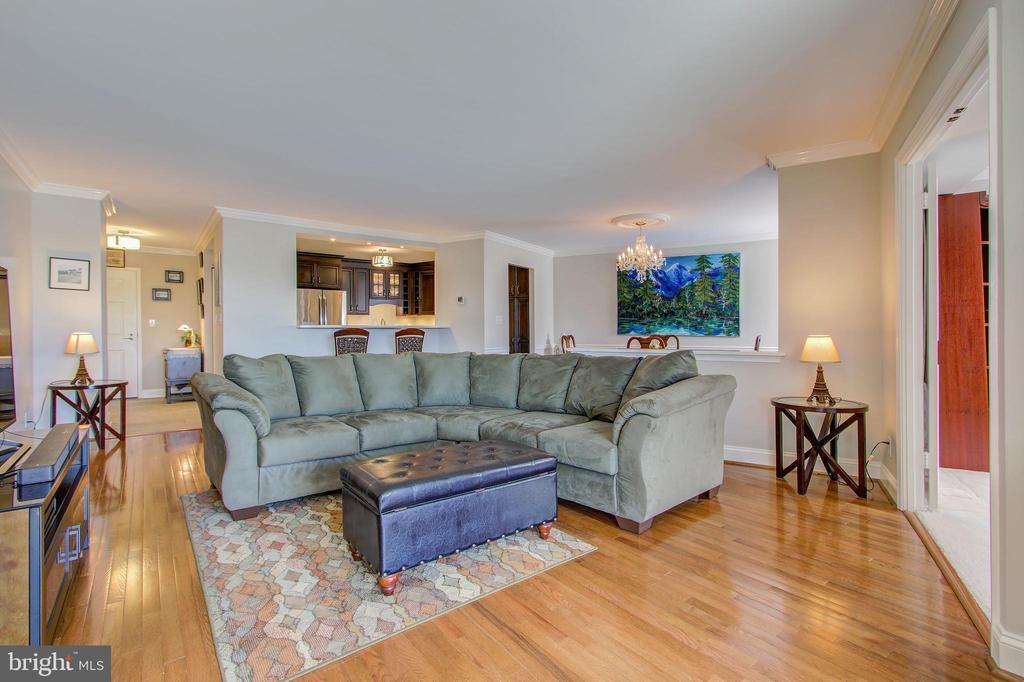 Living Room - View Towards Open-Kitchen Concept - 5904 MOUNT EAGLE DR #504, ALEXANDRIA
