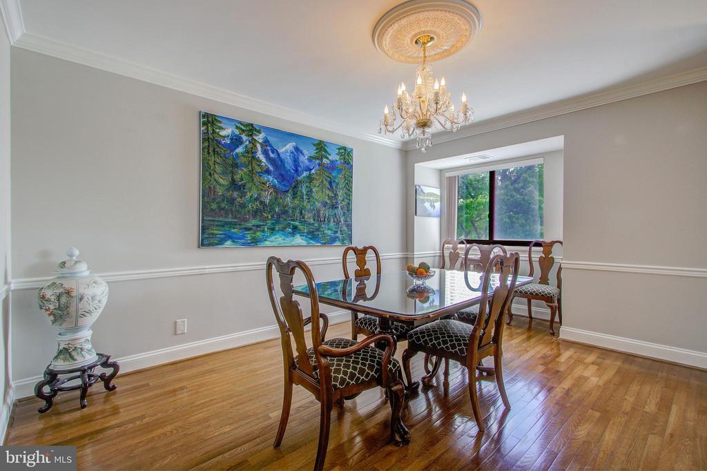 Dining Room - Also Beautiful Hardwood Floors! - 5904 MOUNT EAGLE DR #504, ALEXANDRIA