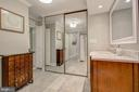Primary/Master Bath in Marble and Ceramic Tile - 5904 MOUNT EAGLE DR #504, ALEXANDRIA
