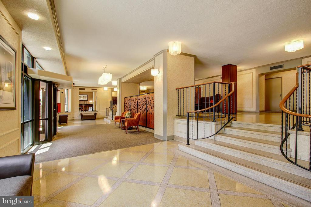 Beautifully Appointed Building Lobby - 5904 MOUNT EAGLE DR #504, ALEXANDRIA