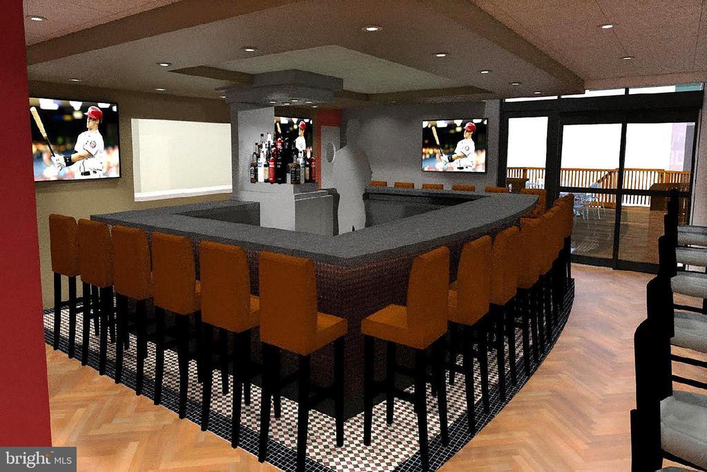 Rendering of New Montebello Cafe Bar Lounge - 5904 MOUNT EAGLE DR #504, ALEXANDRIA