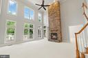 2 story stone fireplace is the heart of the home! - 43409 RIVERPOINT DR, LEESBURG