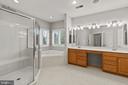 Primary bath w/corner tub &  huge shower - 43409 RIVERPOINT DR, LEESBURG