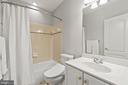 Full bath in lower level w/heated bidet - 43409 RIVERPOINT DR, LEESBURG
