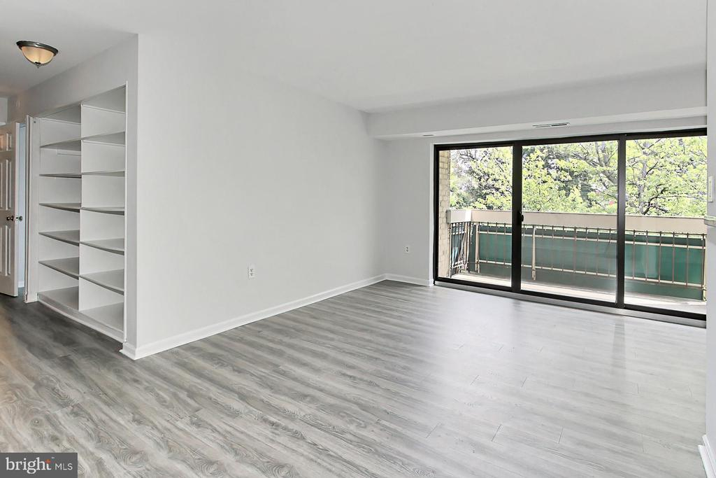 Built in shelves are so convinient by the door - 6137 LEESBURG PIKE #602, FALLS CHURCH