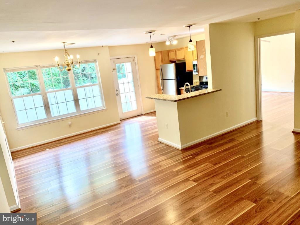 View from family room of Dining area and kitchen - 501 CONSTELLATION SQ SE #C, LEESBURG