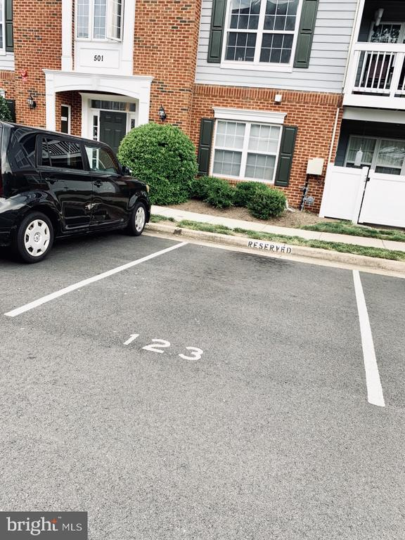 Reserved parking space #123, in front of main ent. - 501 CONSTELLATION SQ SE #C, LEESBURG