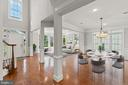 Virtually Staged living & dining rooms w/hardwoods - 43409 RIVERPOINT DR, LEESBURG