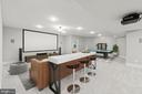 Virtually staged media area w/projector and screen - 43409 RIVERPOINT DR, LEESBURG