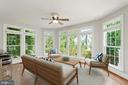 Virtually Staged...Sunroom off the kitchen - 43409 RIVERPOINT DR, LEESBURG