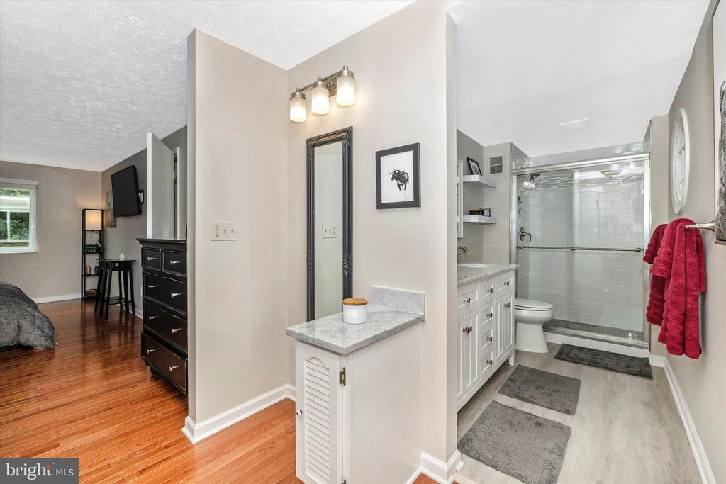 Totally Updated Master Bath with Dressing Area - 18312 AMBER MEADOWS CT, GAITHERSBURG