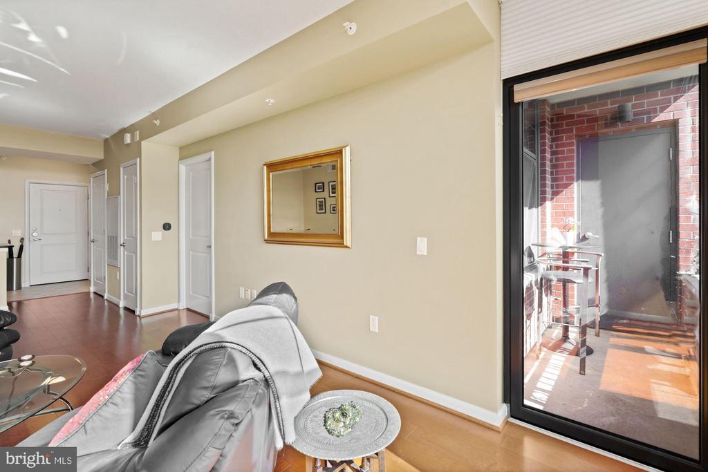 View to balcony. - 1021 N GARFIELD ST #731, ARLINGTON