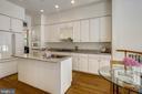 Eat in kitchen with granite countertops - 8619 TERRACE GARDEN WAY, BETHESDA
