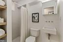 White & bright tiled bathroom w/shower - 1838 VERMONT AVE NW, WASHINGTON