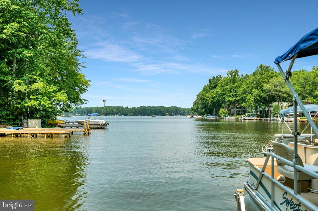 View from the platform  out over the main ski lake - 108 BEACHSIDE CV, LOCUST GROVE
