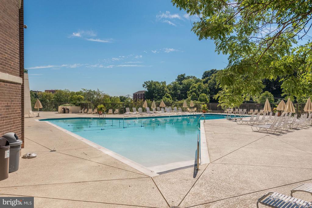 Large outdoor pool - 1600 N OAK ST #624, ARLINGTON