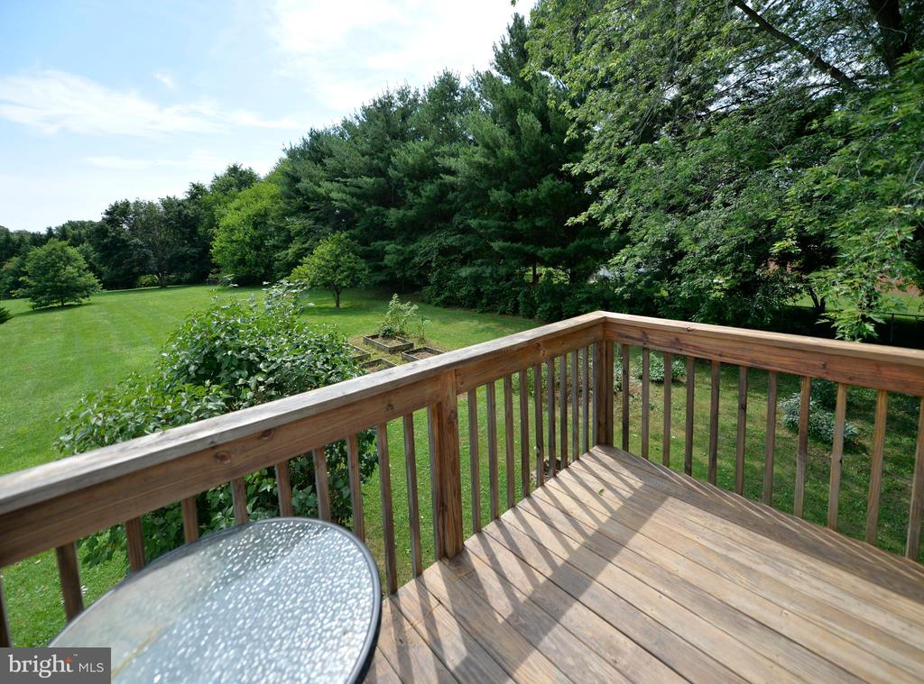 Apartment deck overlooking the back yard - 410 S NURSERY AVE, PURCELLVILLE