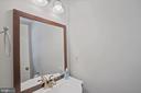 updated half bath on main level - 8017 GALLA KNOLL CIR, SPRINGFIELD