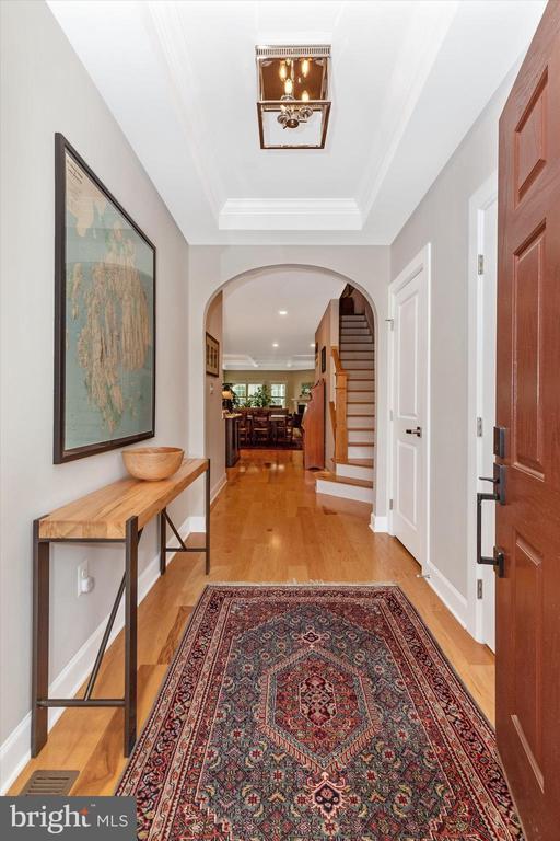 Hardwood floors through main level - 3835 FULHAM RD, FREDERICK