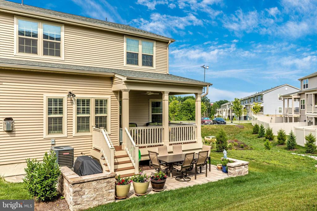 Covered rear porch and custom paver patio - 3835 FULHAM RD, FREDERICK