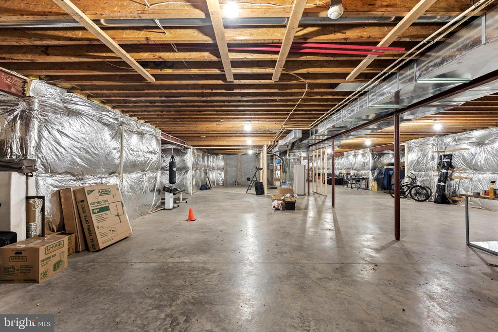 The unfinished walk-out basement - 4346 BASFORD RD, FREDERICK