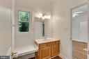 Private vanity room leads to Jack and Jill bath - 4346 BASFORD RD, FREDERICK