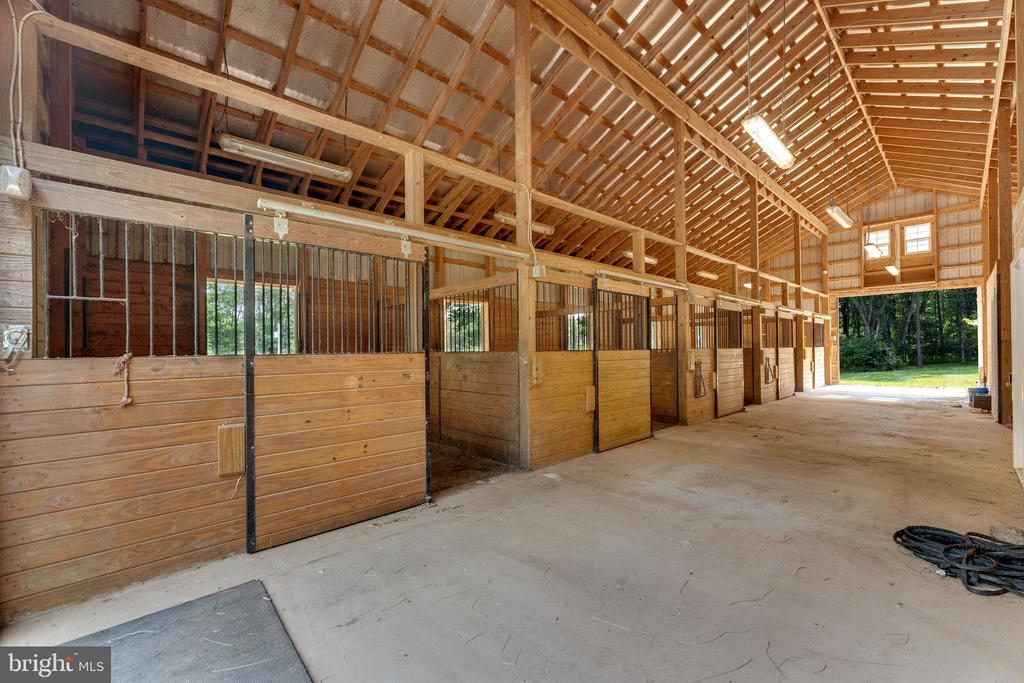 Five stalls are matted and open to paddocks - 4346 BASFORD RD, FREDERICK