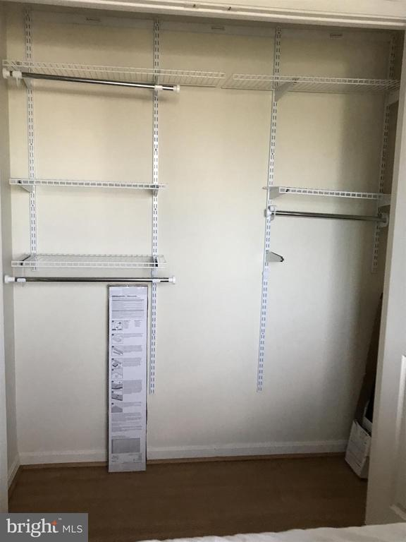 Built in closet organizer - 6502 LAKE PARK DR #301, GREENBELT