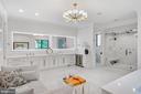 The primary bath is a spa destination. - 620 RIVERCREST DR, MCLEAN
