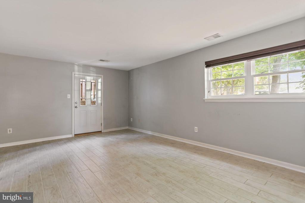 Rec space on lower level with walkup to back yard - 920 S ROLFE ST, ARLINGTON
