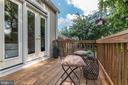 Private deck off the bedroom - 10106 GREENOCK RD, SILVER SPRING