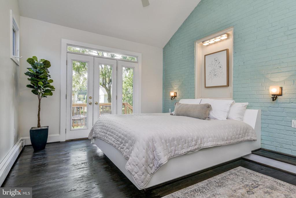 Main Bedroom with French Doors to private deck - 10106 GREENOCK RD, SILVER SPRING