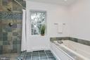 Tiled bath with whirlpool tub - 10106 GREENOCK RD, SILVER SPRING