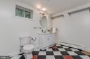 Lower level bath with ceramic tile floor - 10106 GREENOCK RD, SILVER SPRING
