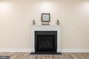 Gas fireplace with Craftsman style mantle - 207 WASHINGTON ST, LOCUST GROVE